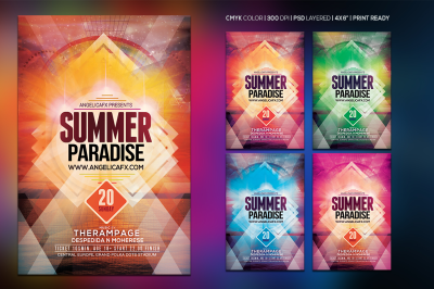 Summer Paradise Photoshop Flyer Template