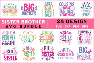Sister Brother Svg Bundle Vol - 01