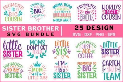 Sister Brother Svg Bundle Vol - 02