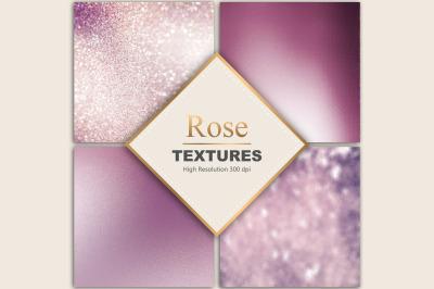Rose FoilGlitter Textures