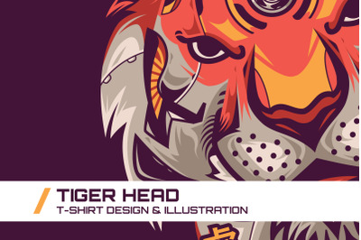 Tiger Head T-Shirt Illustration