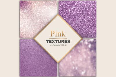 Pink Glitter Foil Textures