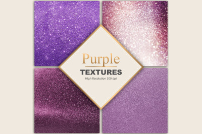 Valentine's Day Purple Glitter Foil Textures