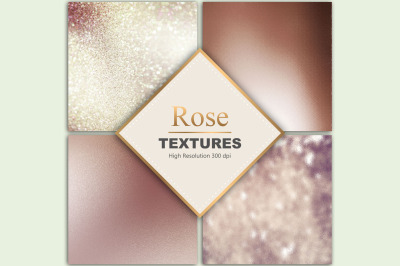 Rose & Bronze Foil Textures