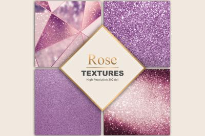 Rose Glitter Textures