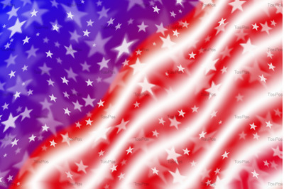 Waving American flag background