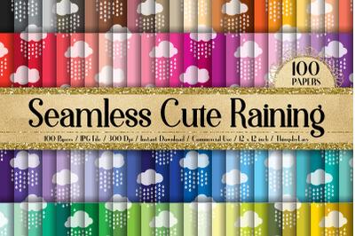 100 Seamless Tinted Cute Raining Cloud Baby Digital Papers