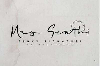 Mrs. Santhi -Fancy Signature-