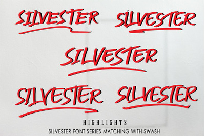 SILVESTER | 6 FONT BRUSH PEN