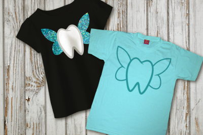 Tooth with Fairy Wings | SVG | PNG | DXF