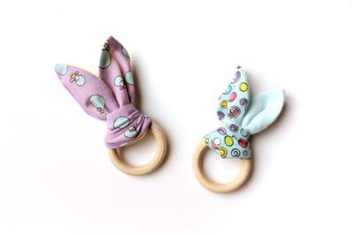 Bunny Ear Teether ITH | Applique Embroidery