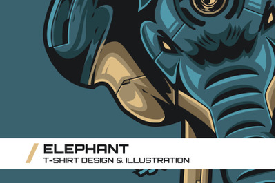Elephant T-Shirt Illustration