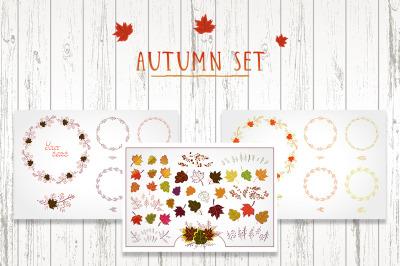 Autumn set. Vector clipart.