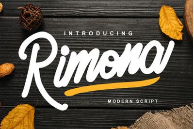 Rimona - Modern Script