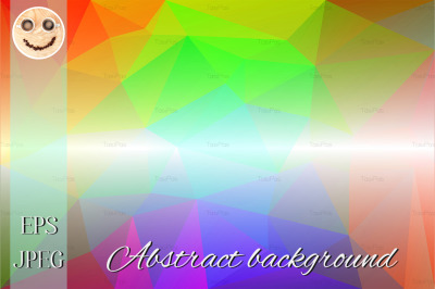 Light rainbow low poly background