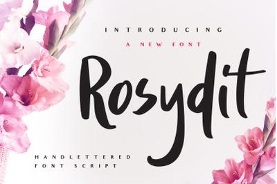 Rosydit - Handlettered Script Font