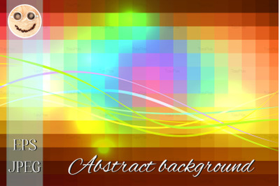 Red pink green blue brown glowing colored lines background