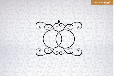 Wedding Logo,  Custom Wedding Logo, Ring Logo, Modern Wedding Logo