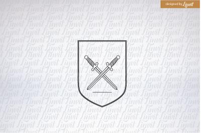 Wedding Crest, Sword Logo, Custom Wedding Crest