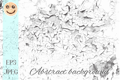 Cracked old paint vector black and white texture