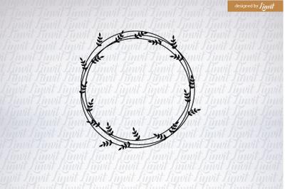 Wedding logo, Modern Wedding Logo, Wreath Logo