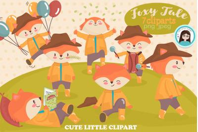 Foxy tale clipart