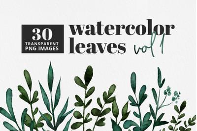 Watercolor Leaves Vol 1 | 30 Pc. Set