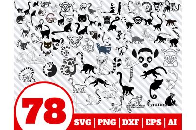 78 Lemur SVG BUNDLE - Lemur clipart - Lemur vector - Lemur cricut