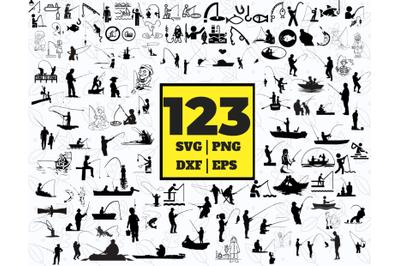 93 FISHING SVG BUNDLE - fishing clipart - fishing vector - fishing