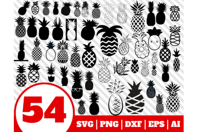 54 PINEAPPLE SVG BUNDLE - pineapple clipart - pineapple vector