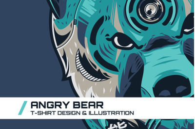 Angry Bear T-Shirt Illustration