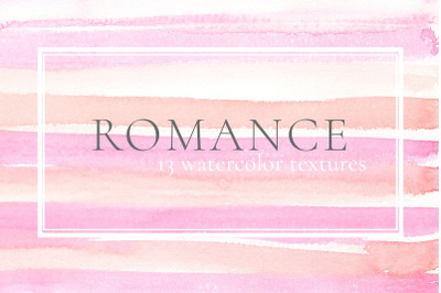 Romance Watercolor Textures