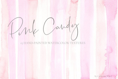Pink Candy Watercolor Textures