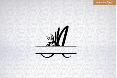A monogram, A initial, typographic wedding logo