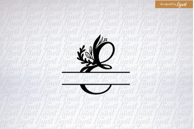 Letter E, initial E, monogram E, e wedding logo