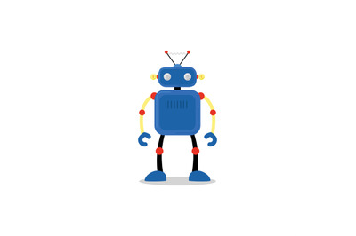 Blue robot icon