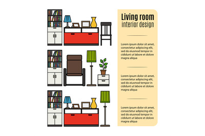 Furniture for living room infographic