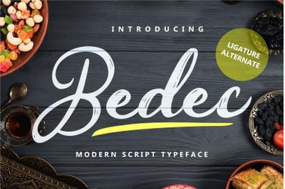 Bedec - Modern Script Typeface