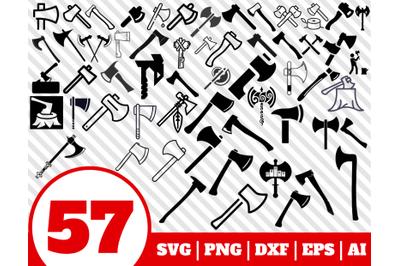 57 AXE SVG BUNDLE - axe clipart - axe vector - axe cricut - axe