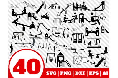 40 PLAYGROUND SVG BUNDLE - playground clipart - playground vector