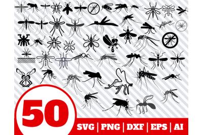 50 MOSQUITO SVG BUNDLE - Mosquito clipart - Mosquito vector - Mosquito