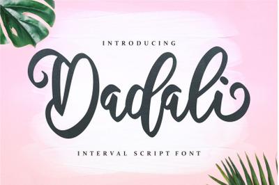 Dadali - Interval Script Font
