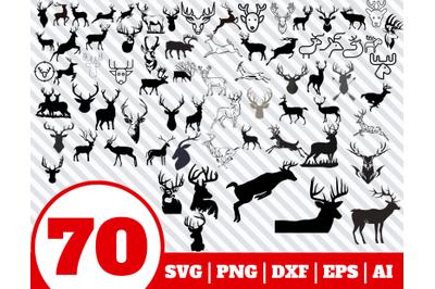 70 BUCK SVG BUNDLE - Buck clipart - Buck vector - Buck cricut - Buck