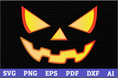 Halloween svg, Jack o Lantern Face SVG, Pumpkin svg, Face svg, girls H