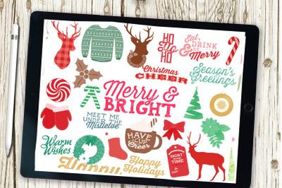 Procreate brush set,Christmas brushes, Xmas brushes