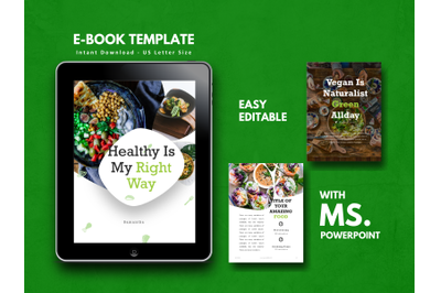 Recipe eBook Vegan PowerPoint Template