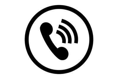 Phone icon connection black