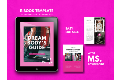Fitness Girl eBook Template