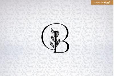 B wedding logo, Monogram B,  B font, B initial