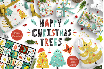 Happy Christmas Trees Collection
